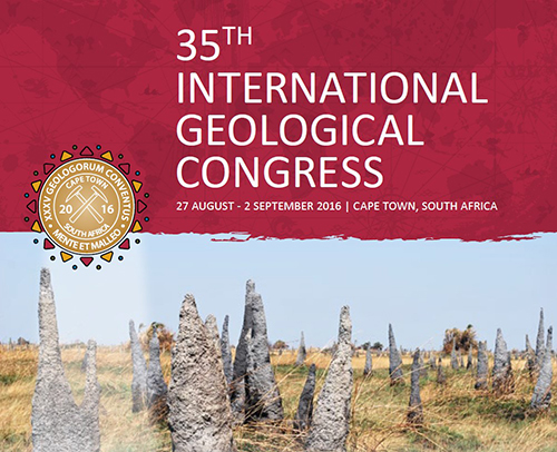 35th IGC, 27 Aug–4 September 2016, Cape Town, South Africa.